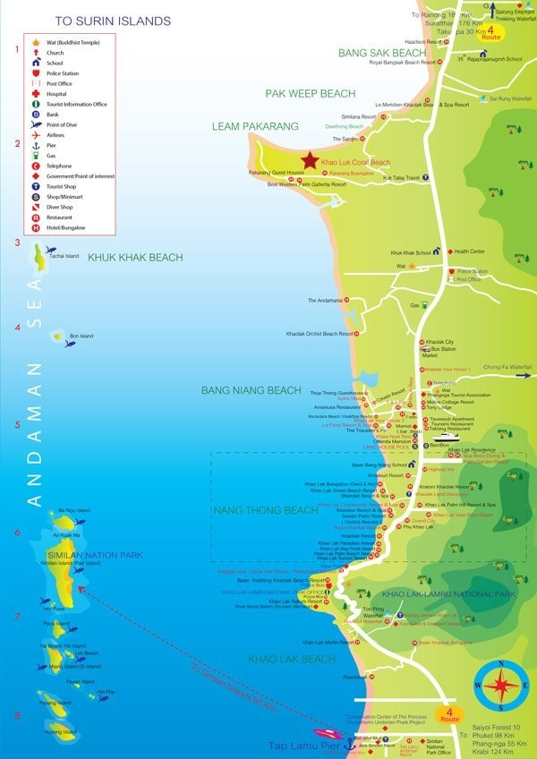 Coconut Beach Resort Map